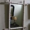Witte brocante houten spiegel