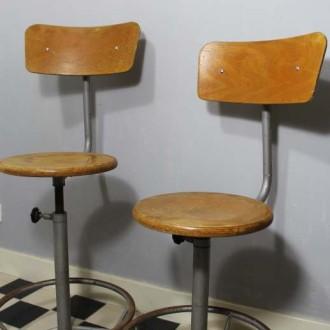 Industriële atelierstoelen vintage design