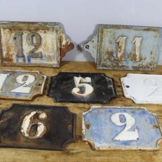 Antieke Franse gietijzeren huisnummers