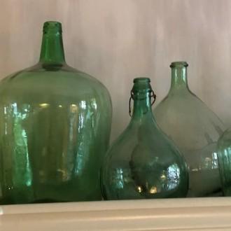 Franse gistflessen (licht) groen of transparant