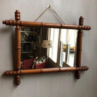 Vintage faux bamboo spiegel