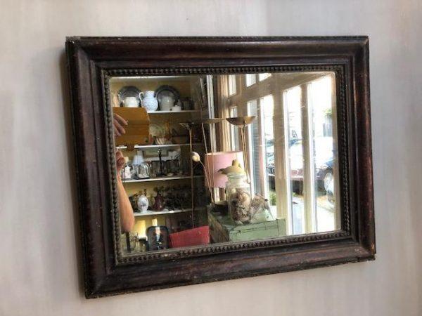 Brocante Zwarte Spiegel.Antieke Franse Zwarte Spiegel Beau Co