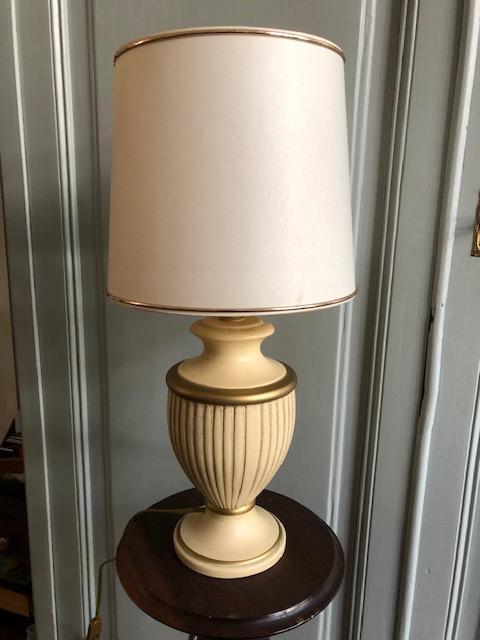 vintage franse keramieke tafellamp