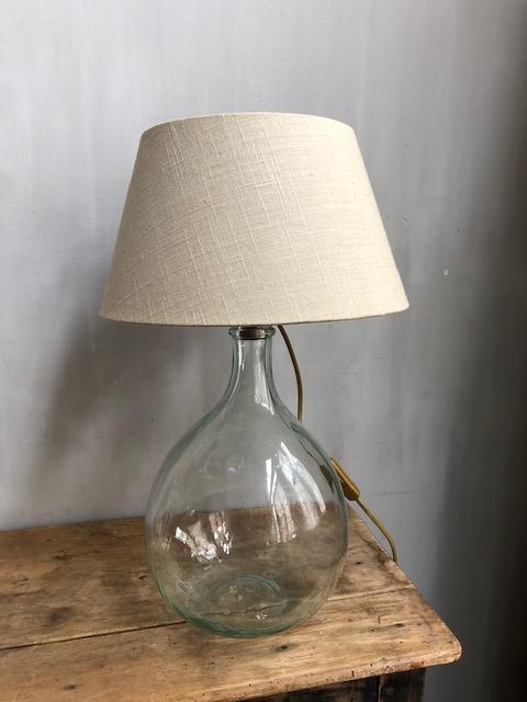 lamp van oude vintage franse gistfles 5 liter
