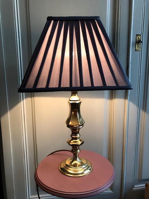 franse messing tafellamp goud vintage