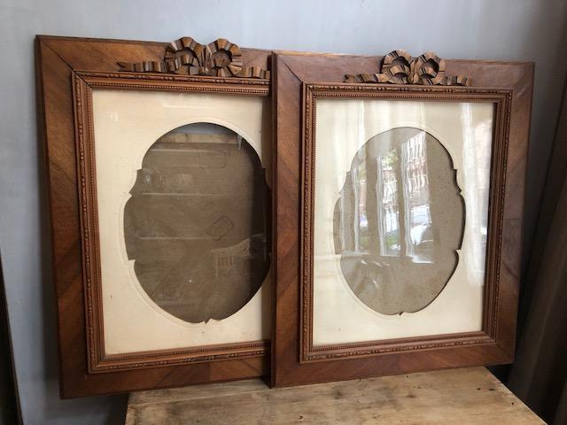 grote houten franse striklijsten antiek