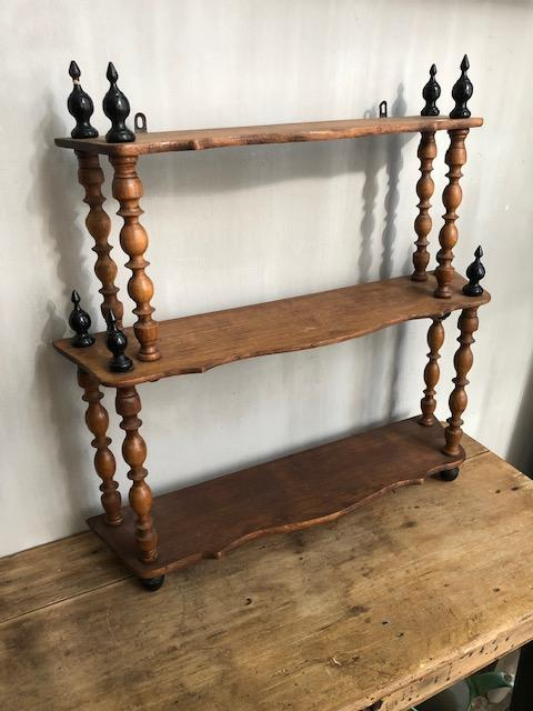 antiek frans houten wandrek