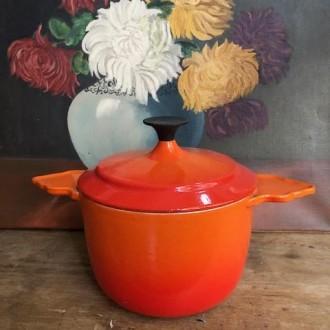 Vintage Cousance/le Creuset pan met grappige oren