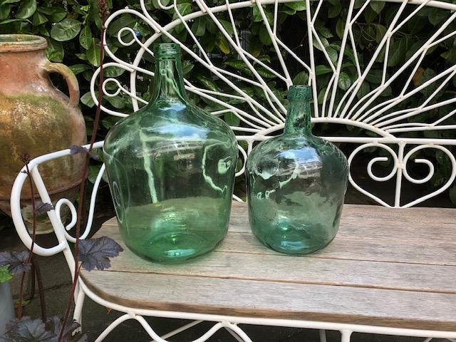 licht groene vintage franse gistflessn 10 liter