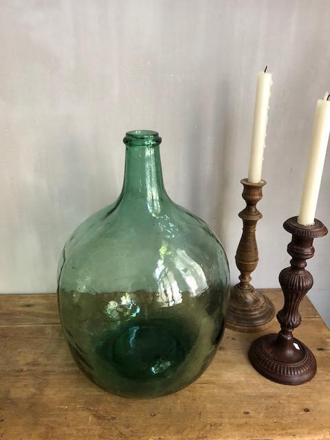 vintage licht groene gistfles 10 liter