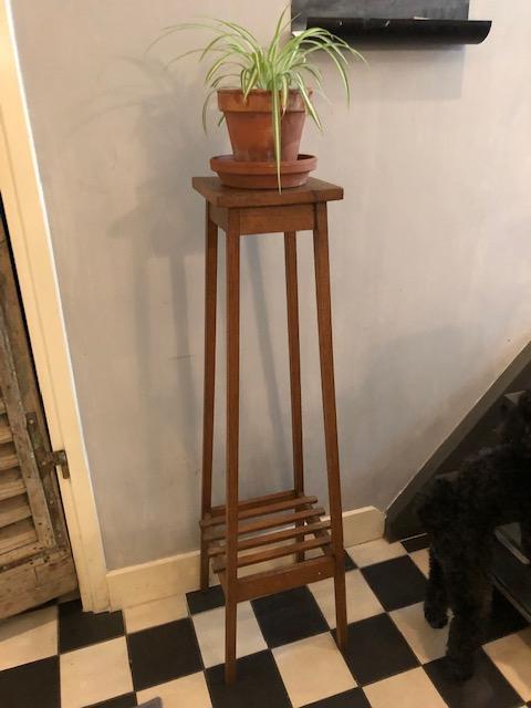 hoge plantentafel hout brocante vintage