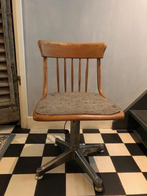 industriele vintage bureaustoel landelijk frans blnk hout