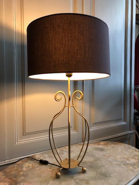 gouden hoge vintage tafellamp