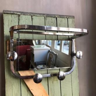 Art deco kapstok met kantelbare spiegel