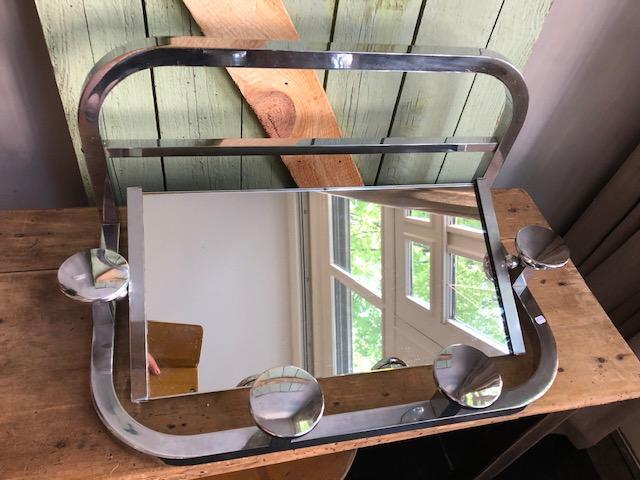 art deco kapstok met spiegel