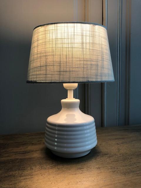 aardewerk wit frans tafellampje wit landelijk chique