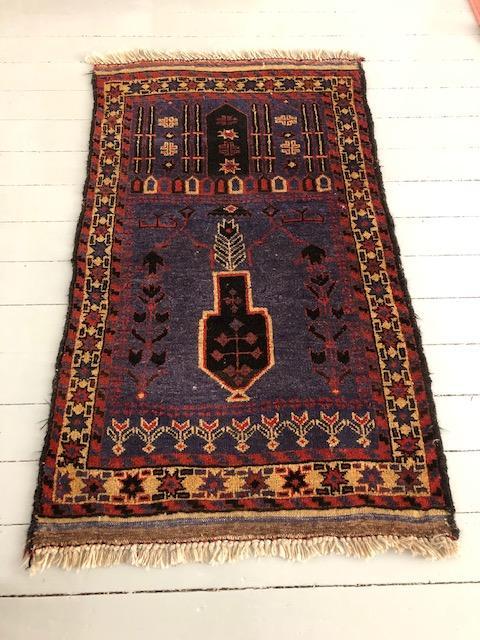 hoogpolig perzisch tapijt afghaans oosters lila