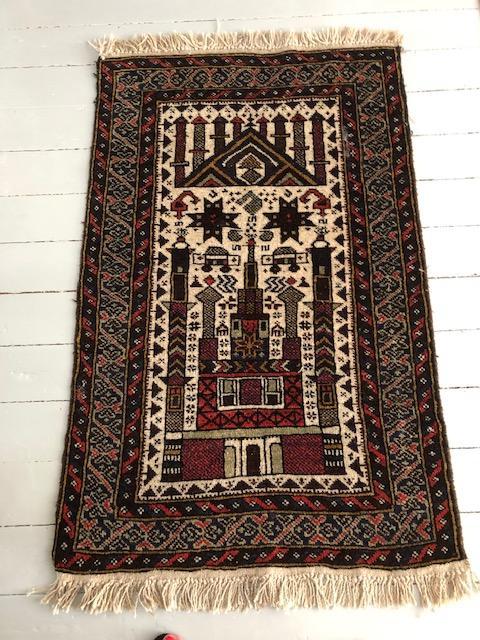 afghaans wollen carpet kleine