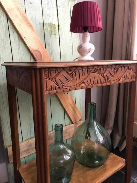 brocante hoog frans landelijk bijzettafeltje decoraties landelijk oud antiek