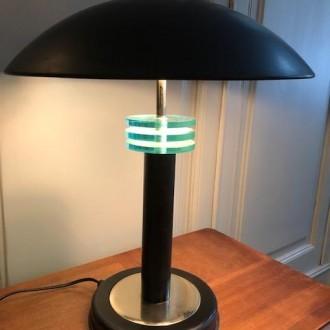 Art deco bureaulamp zwart