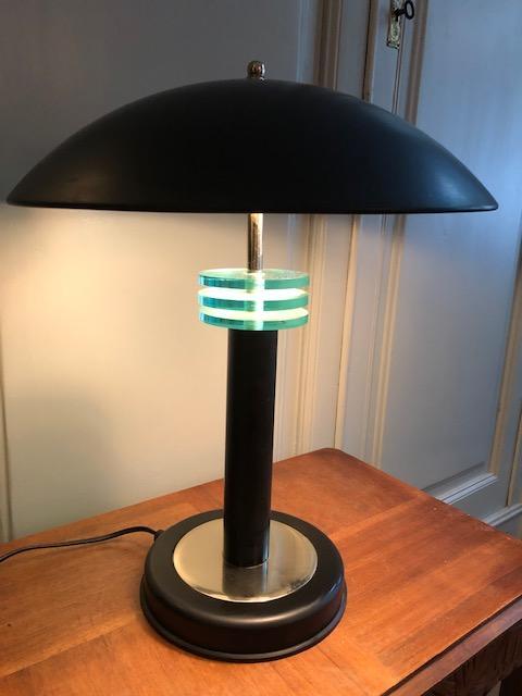 art deco bureaulamp vintage zwart