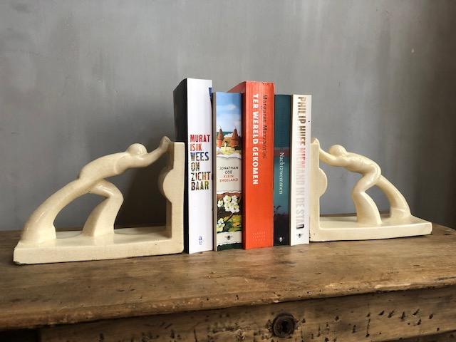 art deco bookend boekensteunen