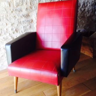 Vintage fauteuil rockabilly