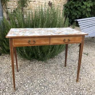 Antiek bureau bijzet tafel make up tafel