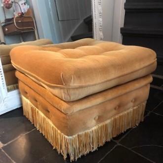 Vintage footstool of poef