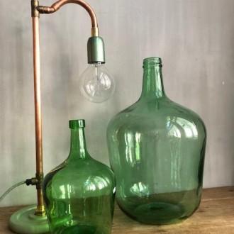 Licht groene vintage gistfles 10 liter