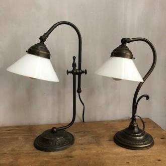 Set bedlampjes tafellampjes art deco stijl