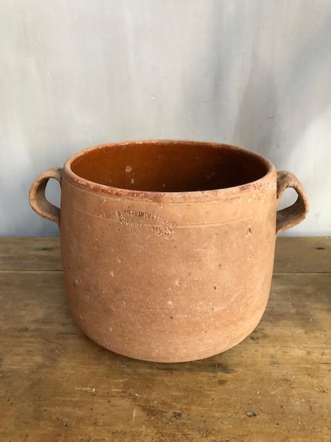 antieke franse aardewerken pot