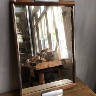 Art deco Franse tafel spiegel (50 x 30 cm)