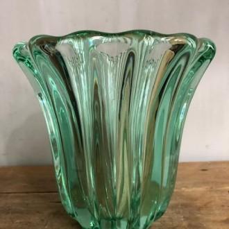 Kristallen glazen vaas groen