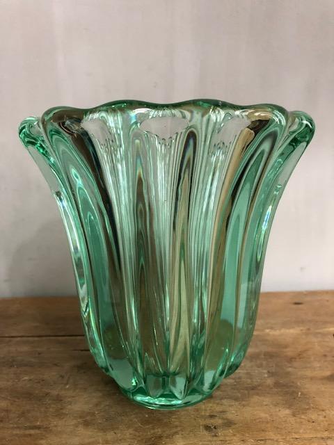 kristallen groene glazen vaas