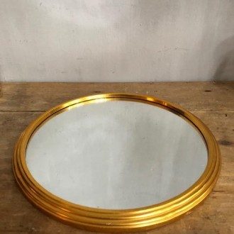 Vintage gouden tafelspiegel