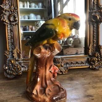 Vintage papegaai spaarpot