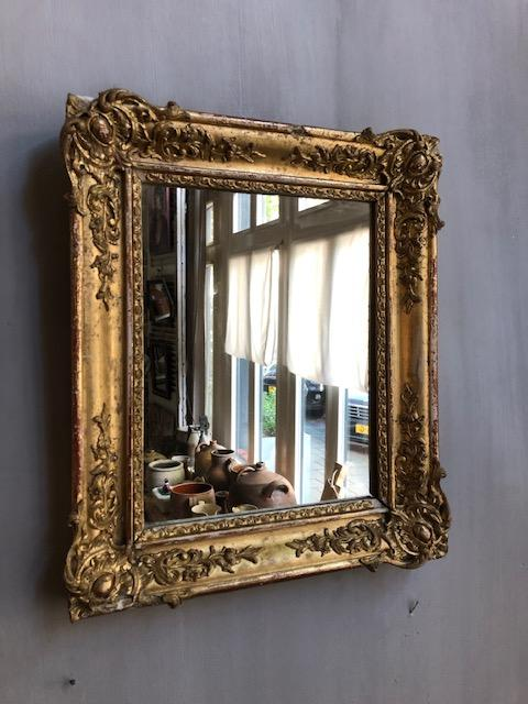 oude franse gouden spiegel