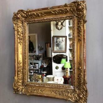 Oude Franse spiegel (41 x 33 cm)