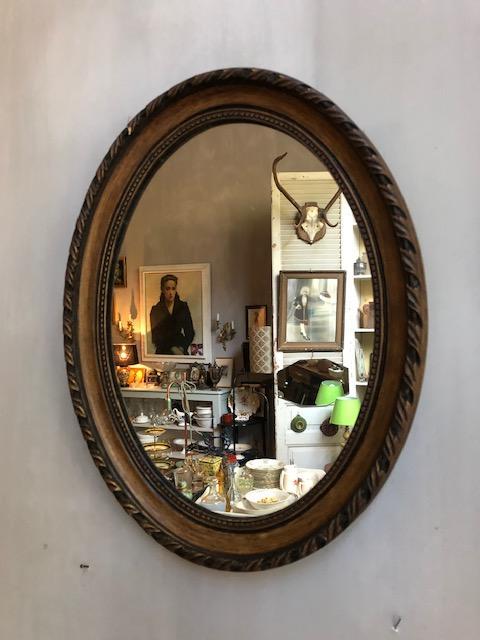 brocante houten spiegel