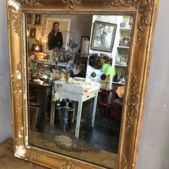 Antieke Franse spiegel (57 x 73 cm)