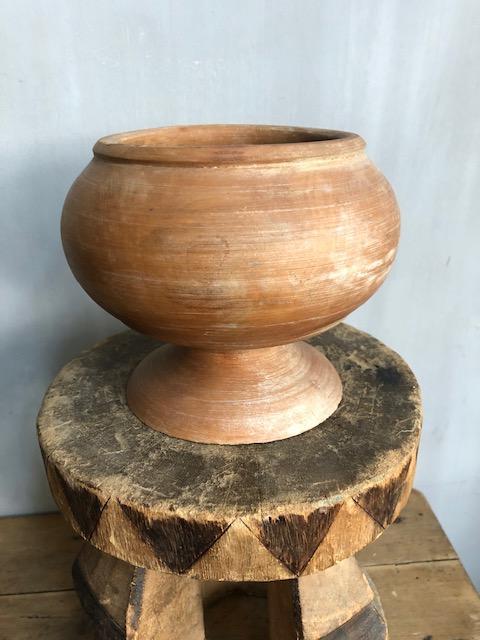 houten bloempot