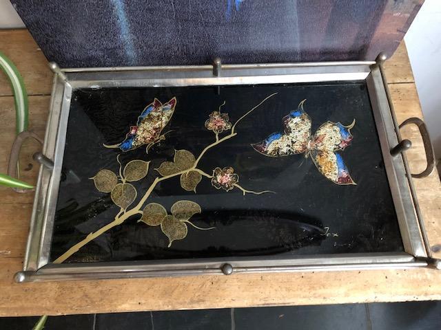 bijzonder dienblad met vlinders