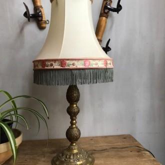 Franse tafellamp met aparte kap