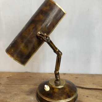 Frans bureaulampje met krokodillenprint