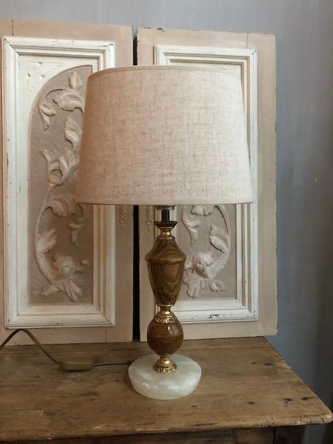 vintage onyx tafellamp