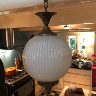 Franse opaline Oosterse hanglamp