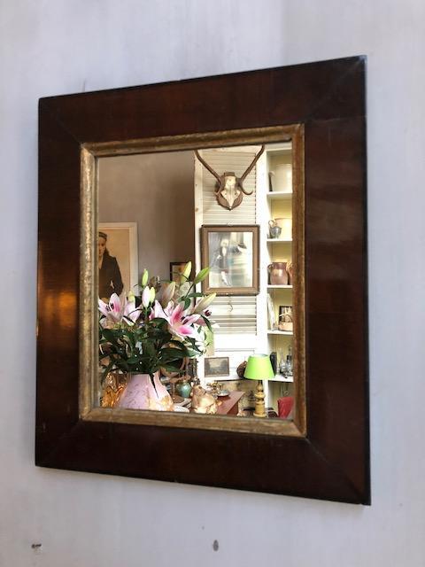 Brocante hoekige spiegel