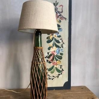 Franse vintage fles lamp