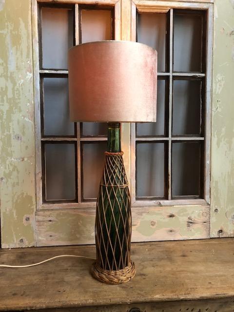 Vintage fles lamp